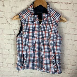 Ariat Plaid Reversible Puffer Vest Size Small